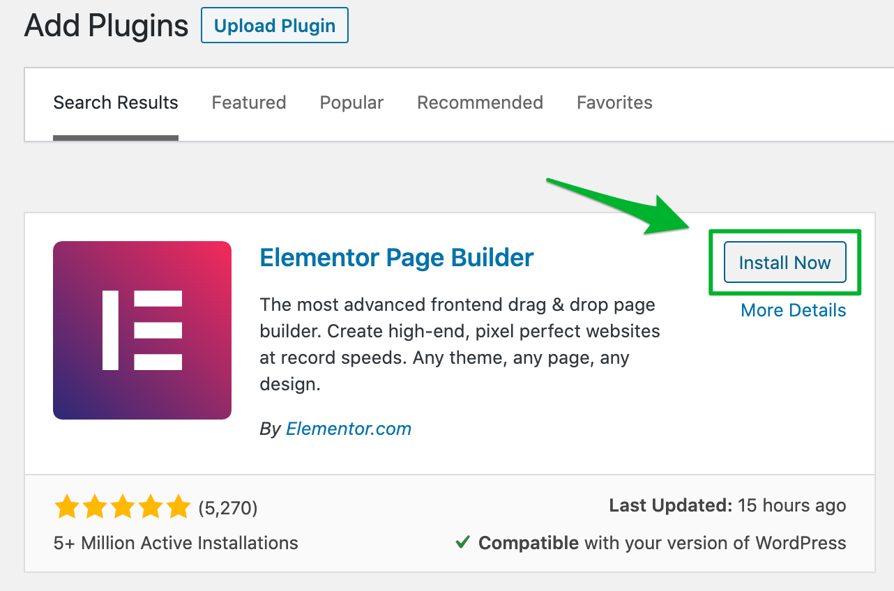 Installing WPFreelance Theme - Install Elementor