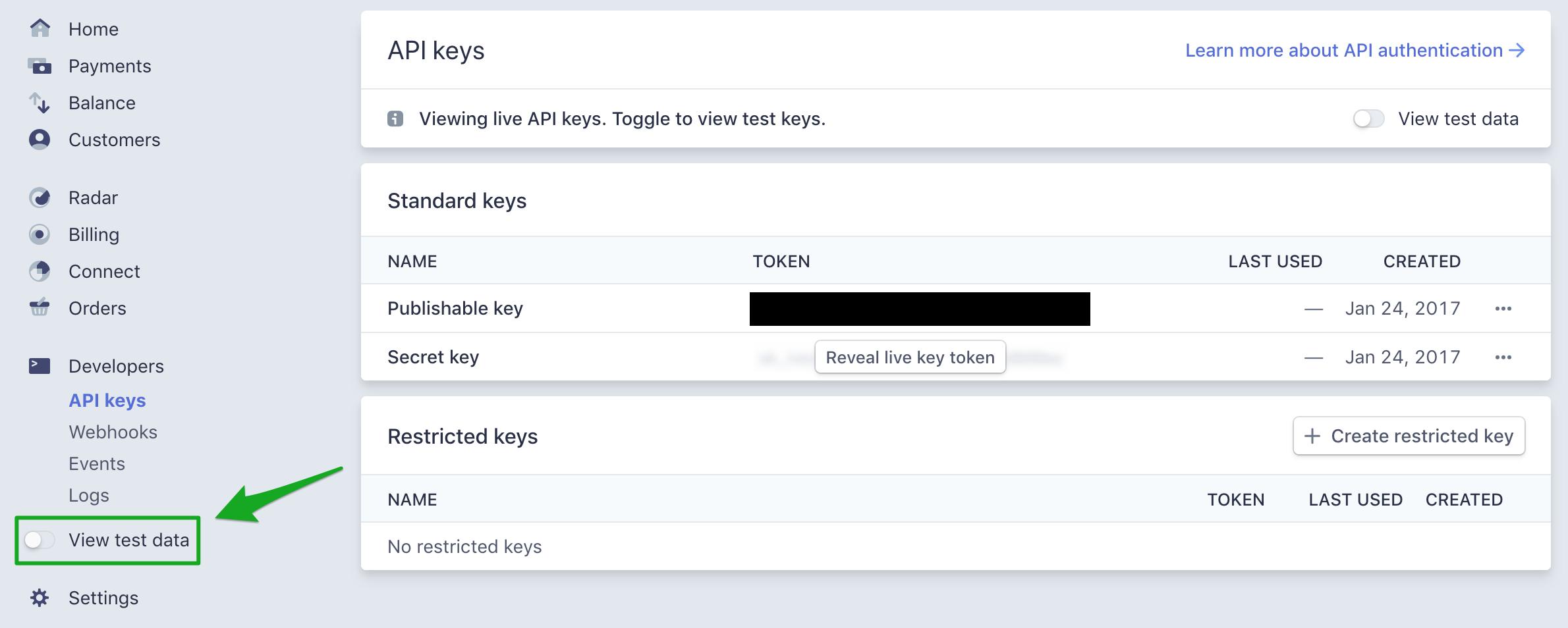 Set up Stripe Payment in WPFreelance Theme - API Keys