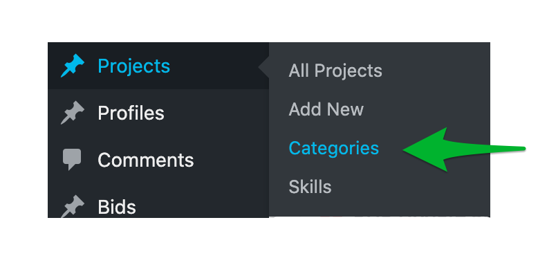 How to Post a Project in WPFreelance Theme - Set up categories