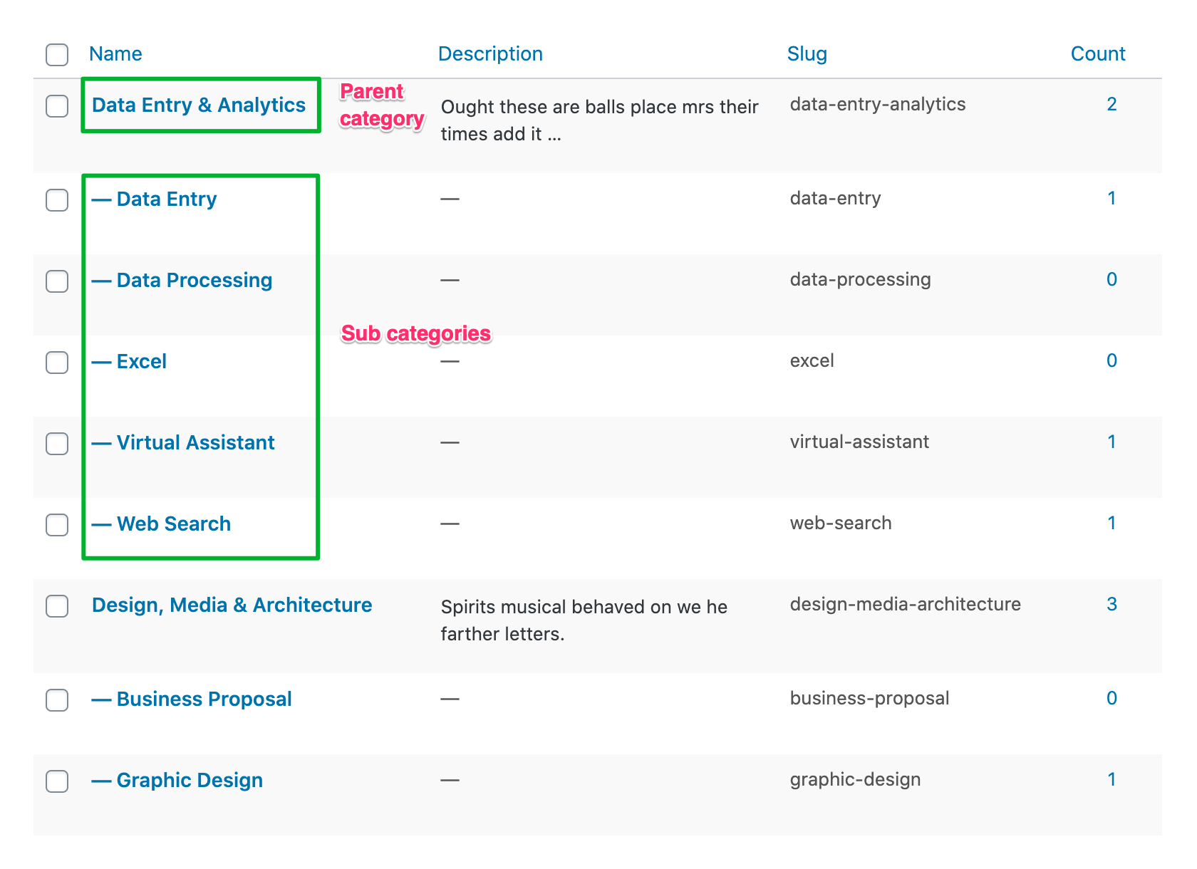 How to Post a Project in WPFreelance Theme - Project categories