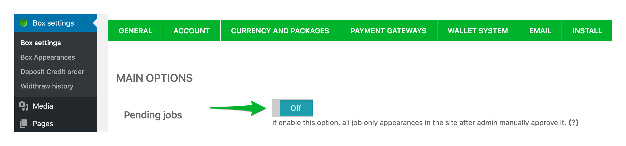 How to Post a Project in WPFreelance Theme - Pending jobs