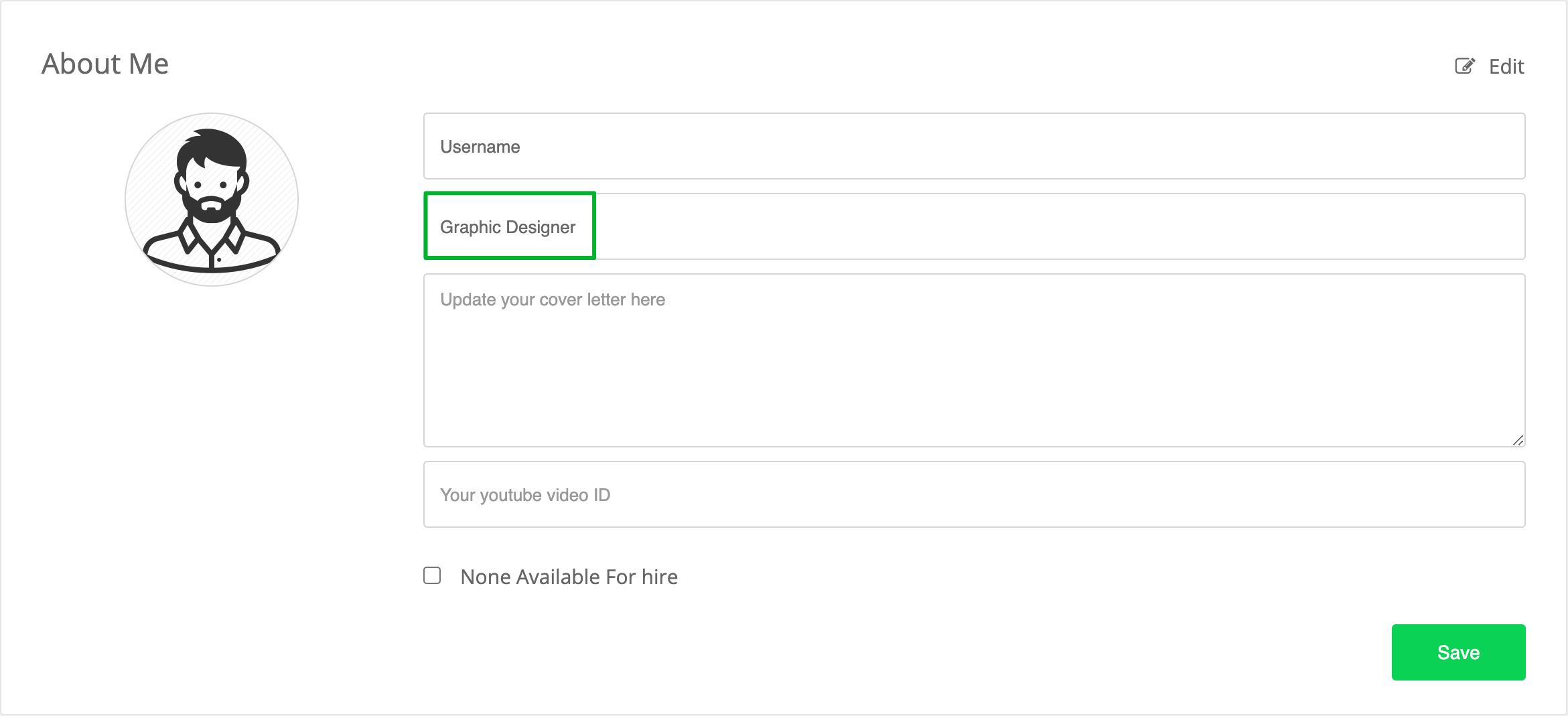 Setting up User Profile in WPFreelance Theme - edit professional label
