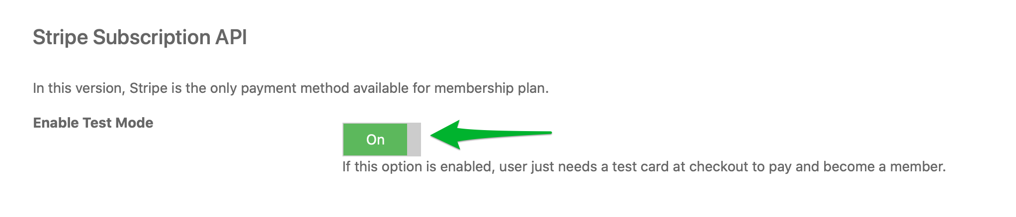 Set up Stripe Pricing ID in Membership_Enable test mode