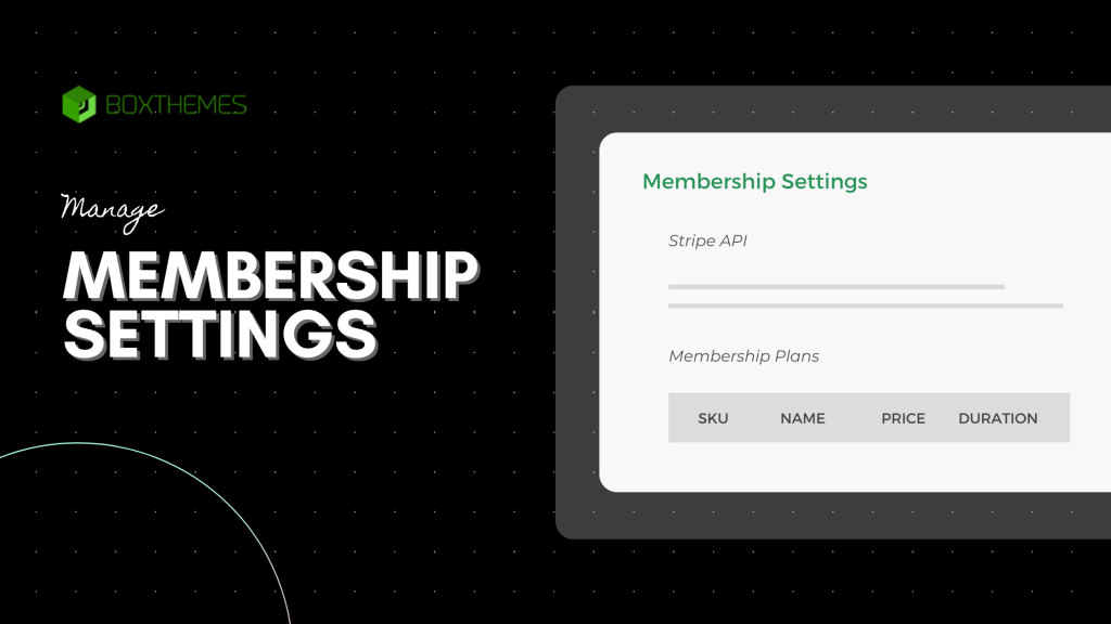 WPFreelance Theme_Manage Membership Settings